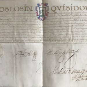 INQUISITION - Manuscrit Tolède